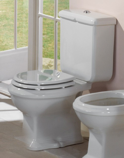 Example image of Arcade Toilet With Seat, Push Flush Cistern And Fittings.