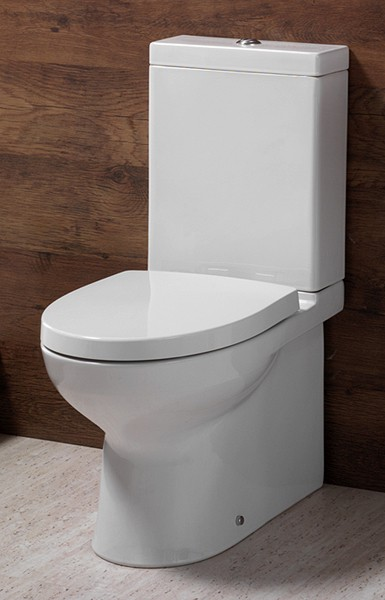 Example image of Shires Parisi Modern Toilet  Push Flush Cistern  amp  Soft Close Seat. Shires Parisi  gt  Modern Toilet  Push Flush Cistern  amp  Soft Close Seat