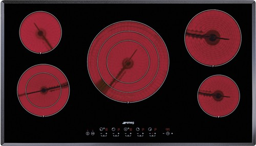 Larger image of Smeg Ceramic Hobs 5 Ring Touch Control Ceramic Hob & Angled Edge.