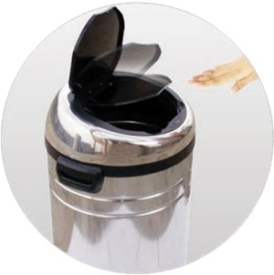 Example image of Auto Sensor Bin 68 Litre Stainless Steel Waste Bin. (Large)