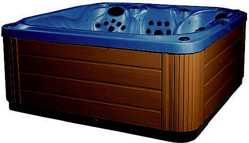 Hot Tub > Blue Venus Hot Tub (Chocolate Cabinet & Brown Cover).