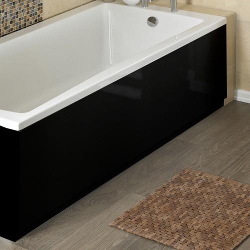 Captivating Larger Image Of Hudson Reed Bath Panels 1600mm Side Bath Panel (Black, MDF)